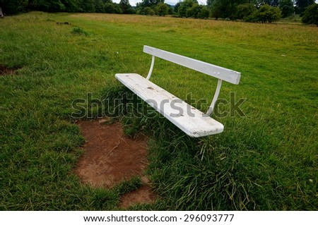 Empty bench in a park in the Yorkshire Dales