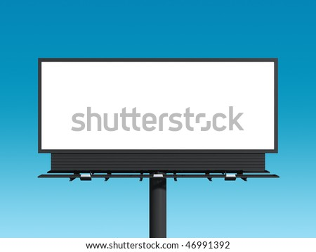Empty billboard with sky