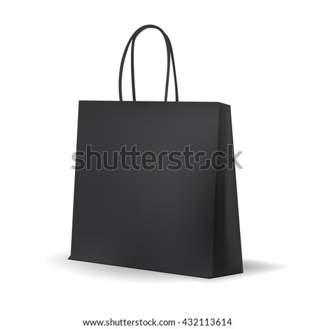 Black Shopping Bag Stock Images, Royalty-Free Images & Vectors ...