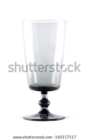 empty black wine glass