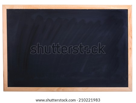 empty blackboard isolated for education background