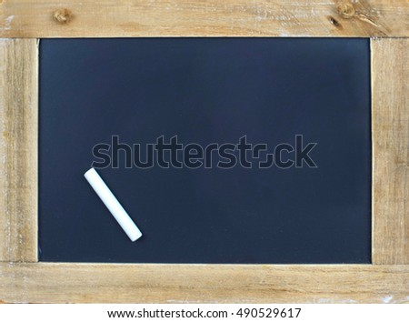 empty blackboard with Chalk
