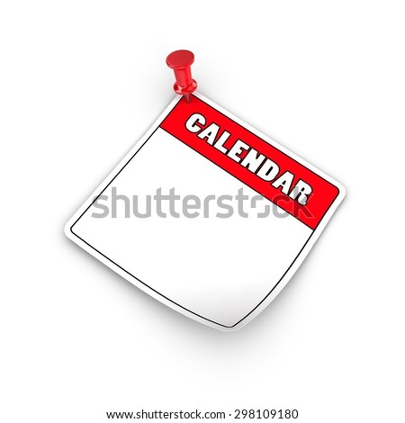 Empty Blanc calendar on a white background.