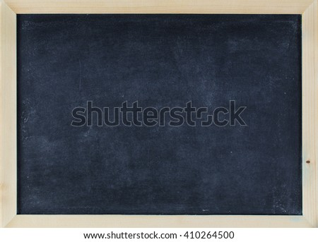 empty Blank chalkboard in wooden frame. blank board empty space for add text. - stock photo