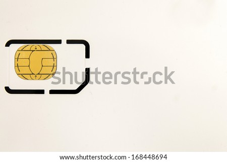empty blank Smart card - SC - for mobile phone or smartphone or tablet computer  - stock photo