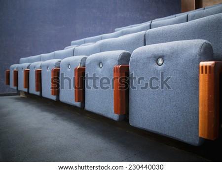 Empty blue seats - stock photo