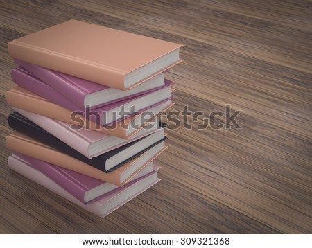 Empty book mockup template. High resolution.