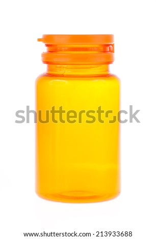 Empty bottle isolated on white background - stock photo