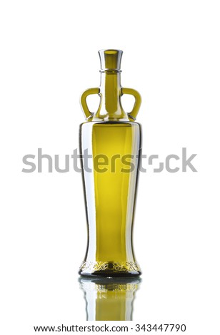 Empty bottle isolated over the white background