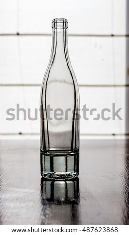 empty bottle on a table