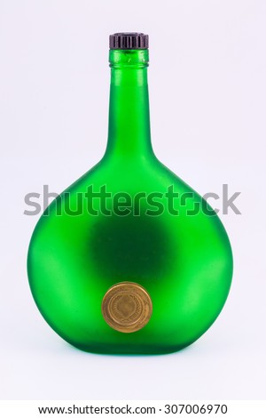 Empty Bottles Of Champagne  - stock photo