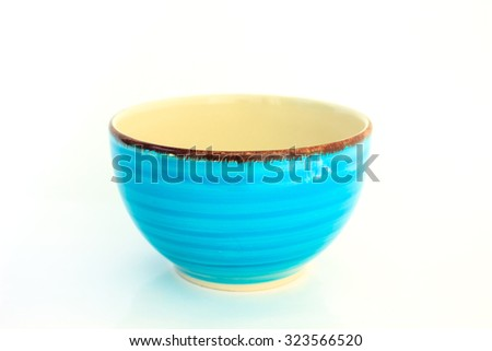 empty bowl cup on white background