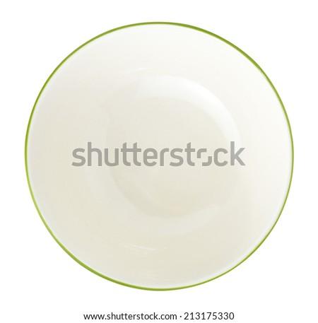 empty bowl on a white background - stock photo