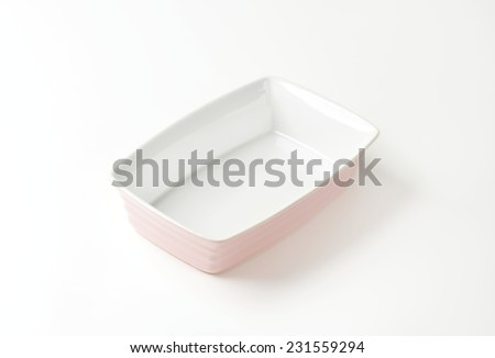 empty bowl on white background