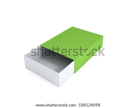 Empty box.Isolated on white.3d rendered.