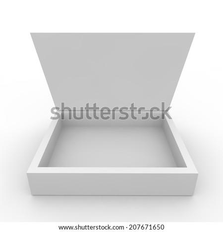 Empty box on the white isolated background - stock photo