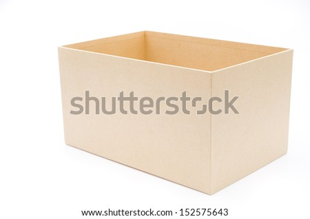 Empty box on white background