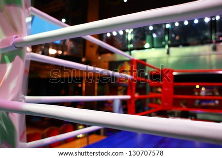 Empty boxing ring abstraction - stock photo