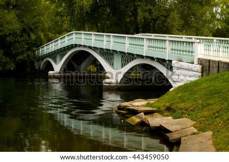 Empty Bridge on Toronto Island - stock photo