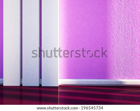 empty bright room with the vertical  shapes - stock photo
