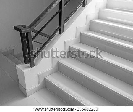 Empty building stairway - stock photo