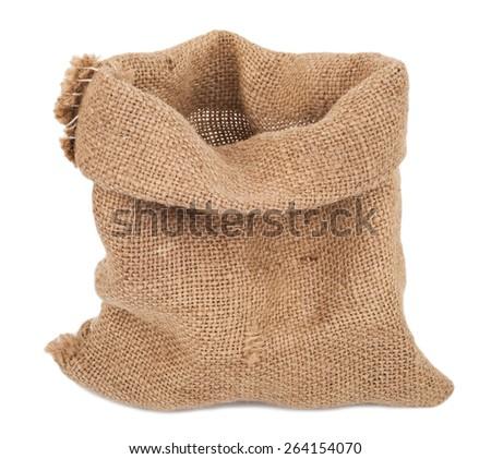Empty burlap sack  - stock photo