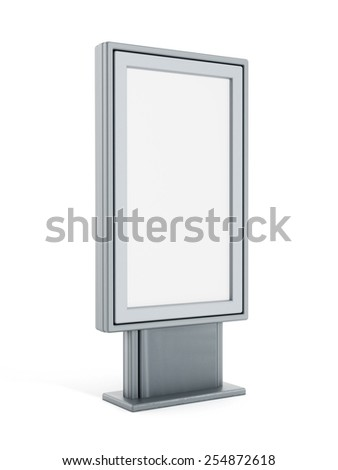 Empty bus shelter CLP isolated on white background - stock photo