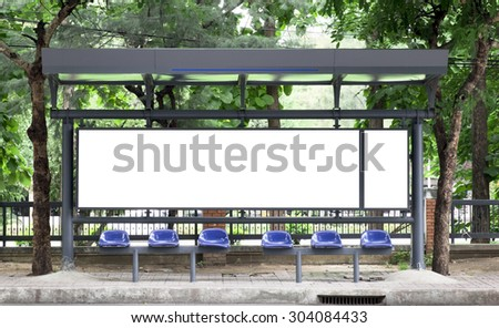 Empty bus stop billboard