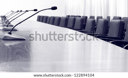 Empty business , conference hall - stock photo