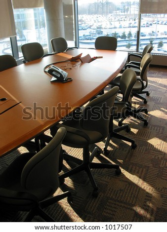 Empty business conference room