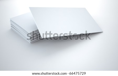 empty cardboard tablets on a white background - stock photo