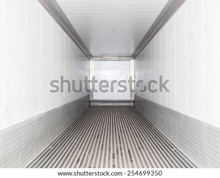 Empty cargo view from inside. - stock photo