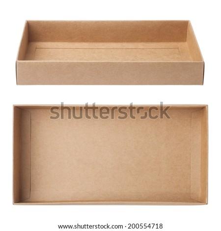 empty carton - stock photo