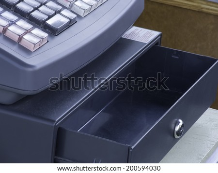 Empty cash drawer - stock photo