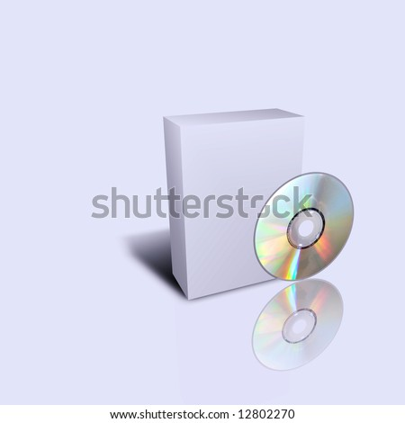 empty cd box isolated in gray background - stock photo