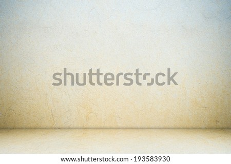 Empty cement room in perspective. - stock photo