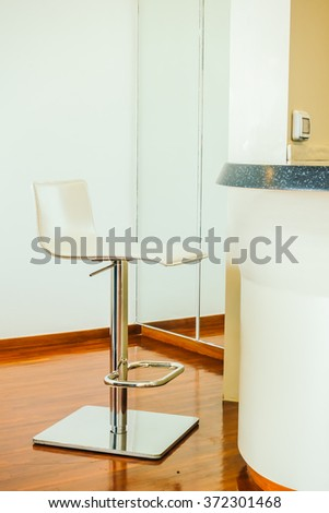 Empty chair and table with bar decoration in livingroom interior - light vintage Filter