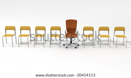 empty chair for leader
