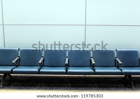 Empty Chairs at an Airport
