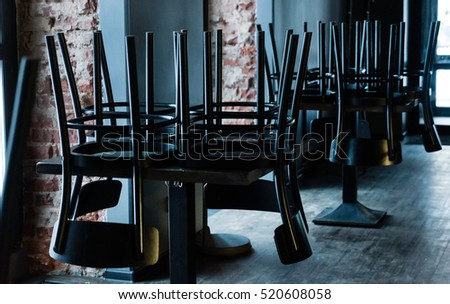 empty chairs in the bar