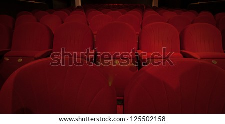 Empty chairs in the theater