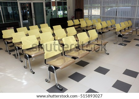 Empty chairs in the waiting room