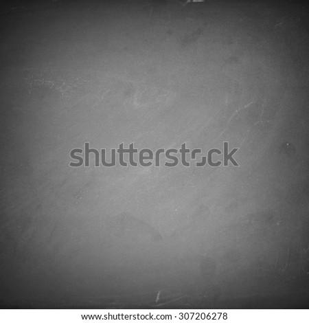 Empty chalk board background - stock photo