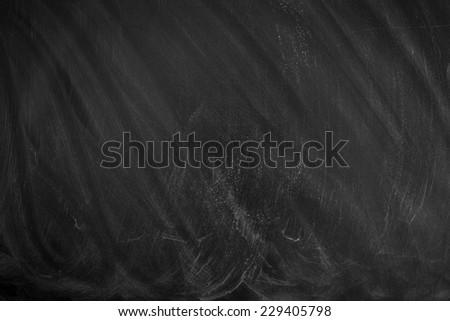 Empty Chalk board Background/Blank Blackboard Background  - stock photo