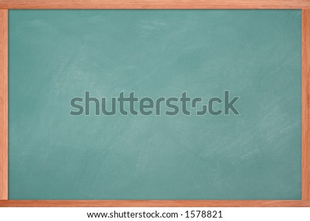 Empty chalkboard - stock photo