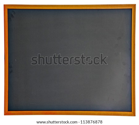 Empty Chalkboard with clipping path