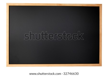 empty chalkboard with space for a text message - stock photo