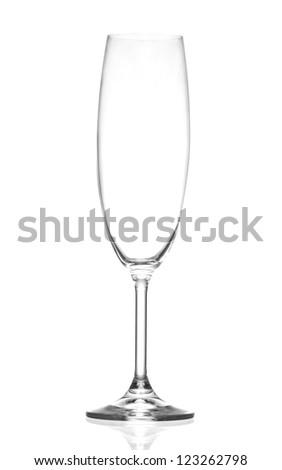 empty champagne glass - stock photo