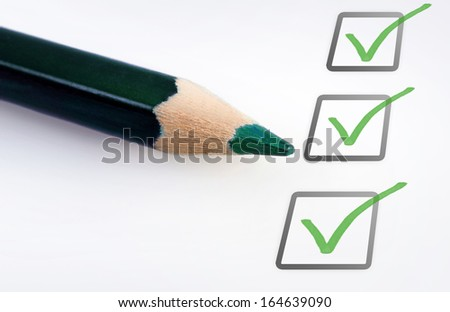 Empty checklist with copy space - stock photo