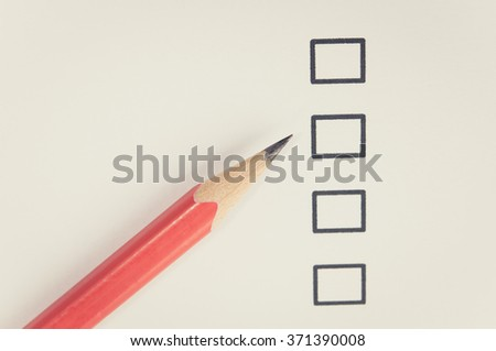 Empty checklist with pencil. - stock photo